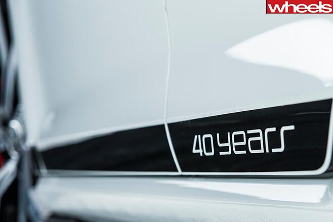 Volkswagen Golf Gti 40 years badge