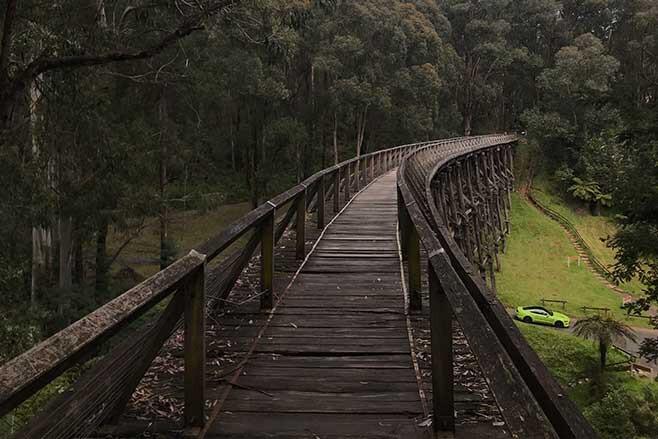 Historic trestle bridge in Noojee.