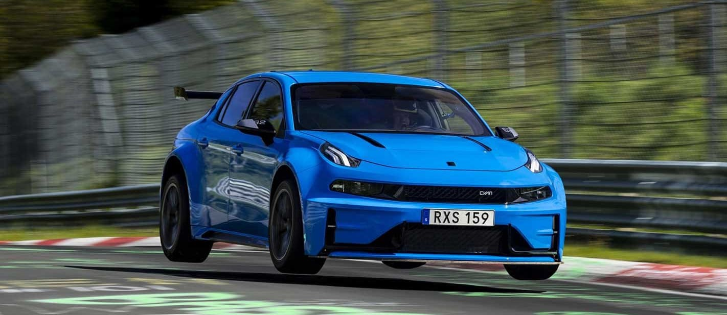 Lynk Co 03 Cyan Concept FWD Nurburgring record