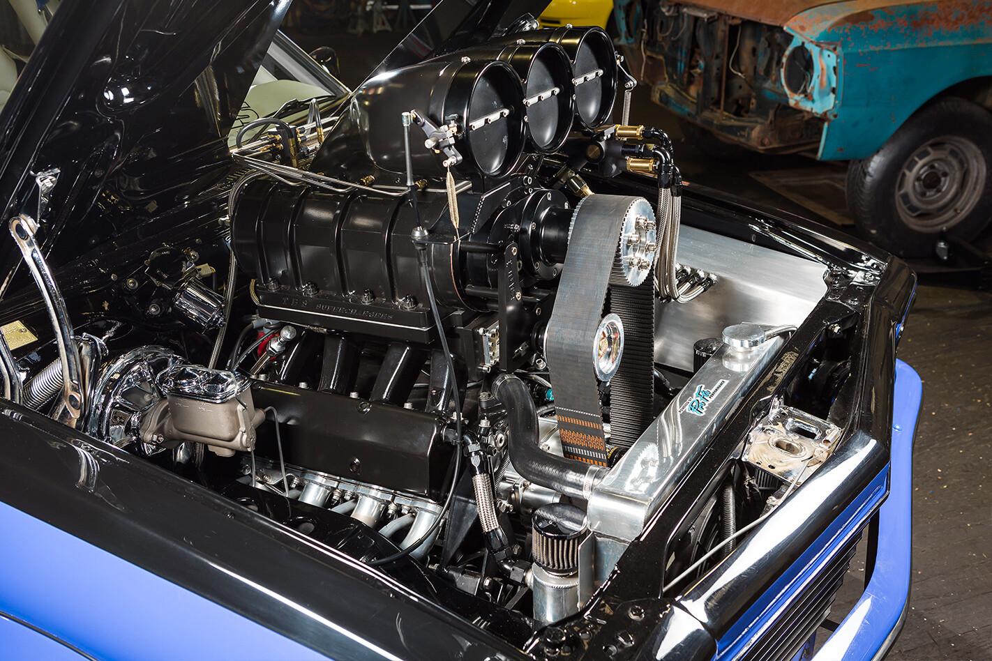 Blown Holden LX Torana engine