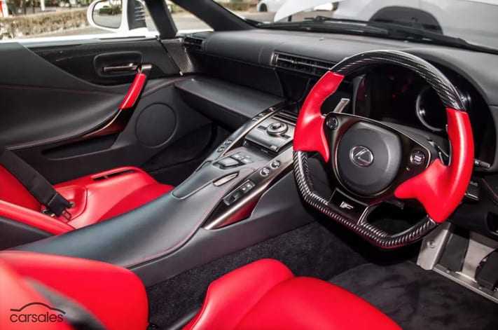 Lexus LFA interior   Wheels Magazine