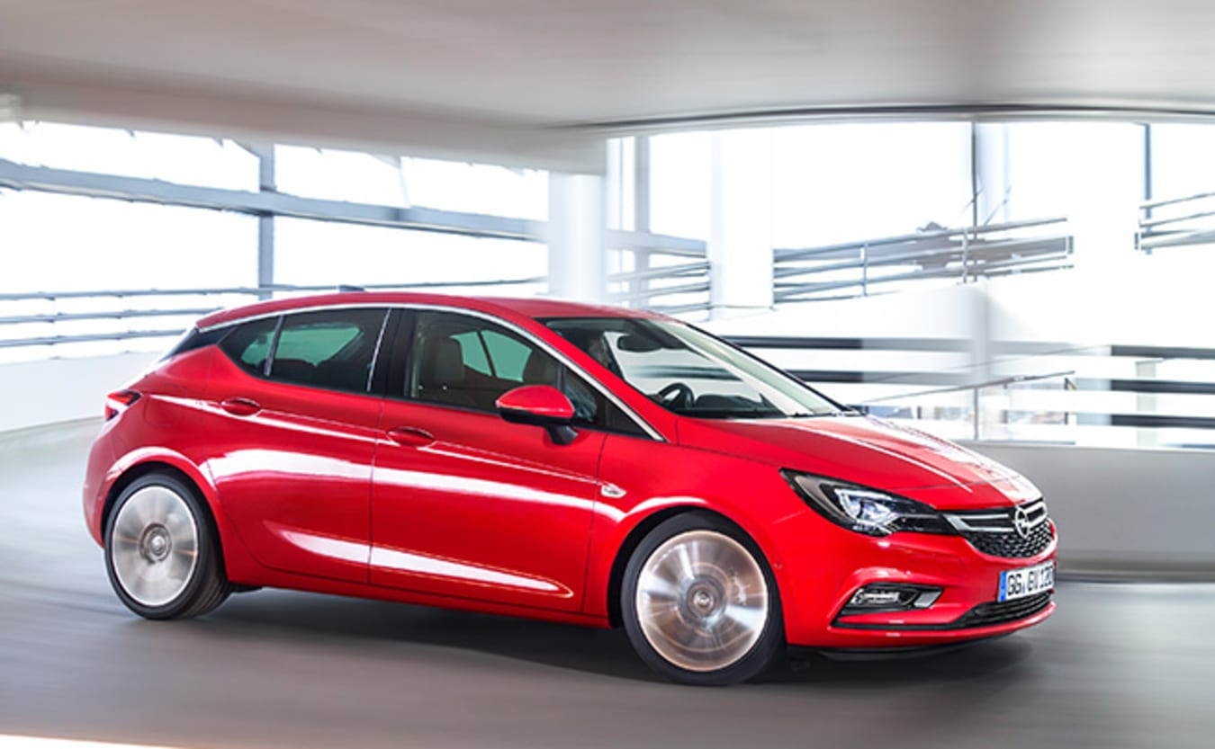Red Holden Astra side