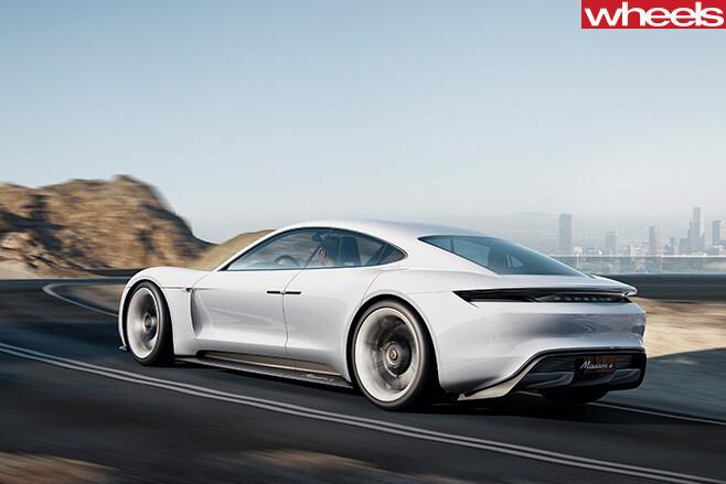 Porsche -Mission -e -side -rear