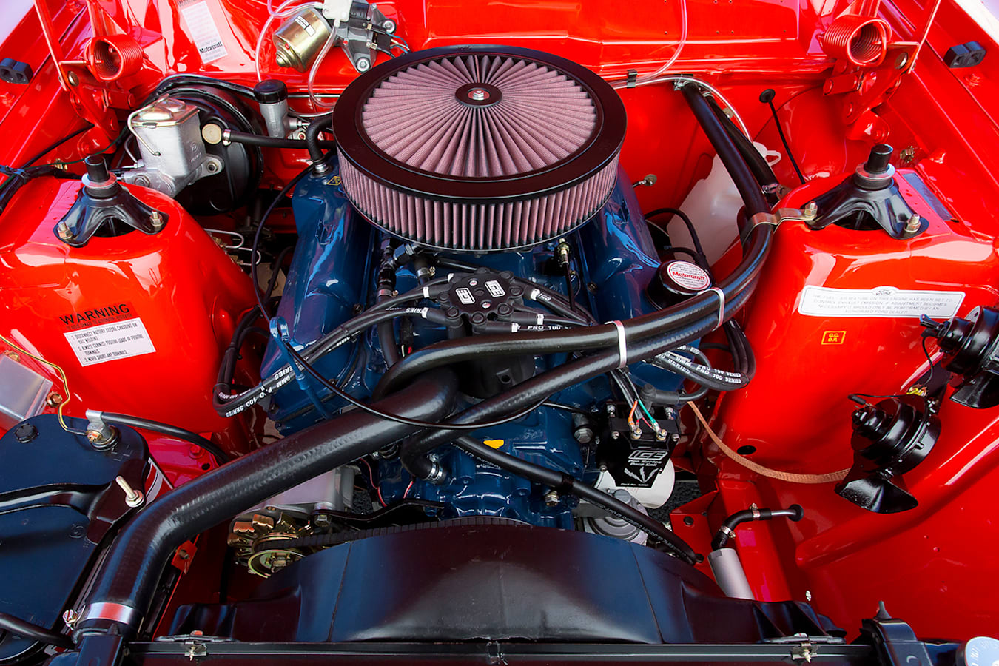 ford falcon xb gt hardtop engine bay