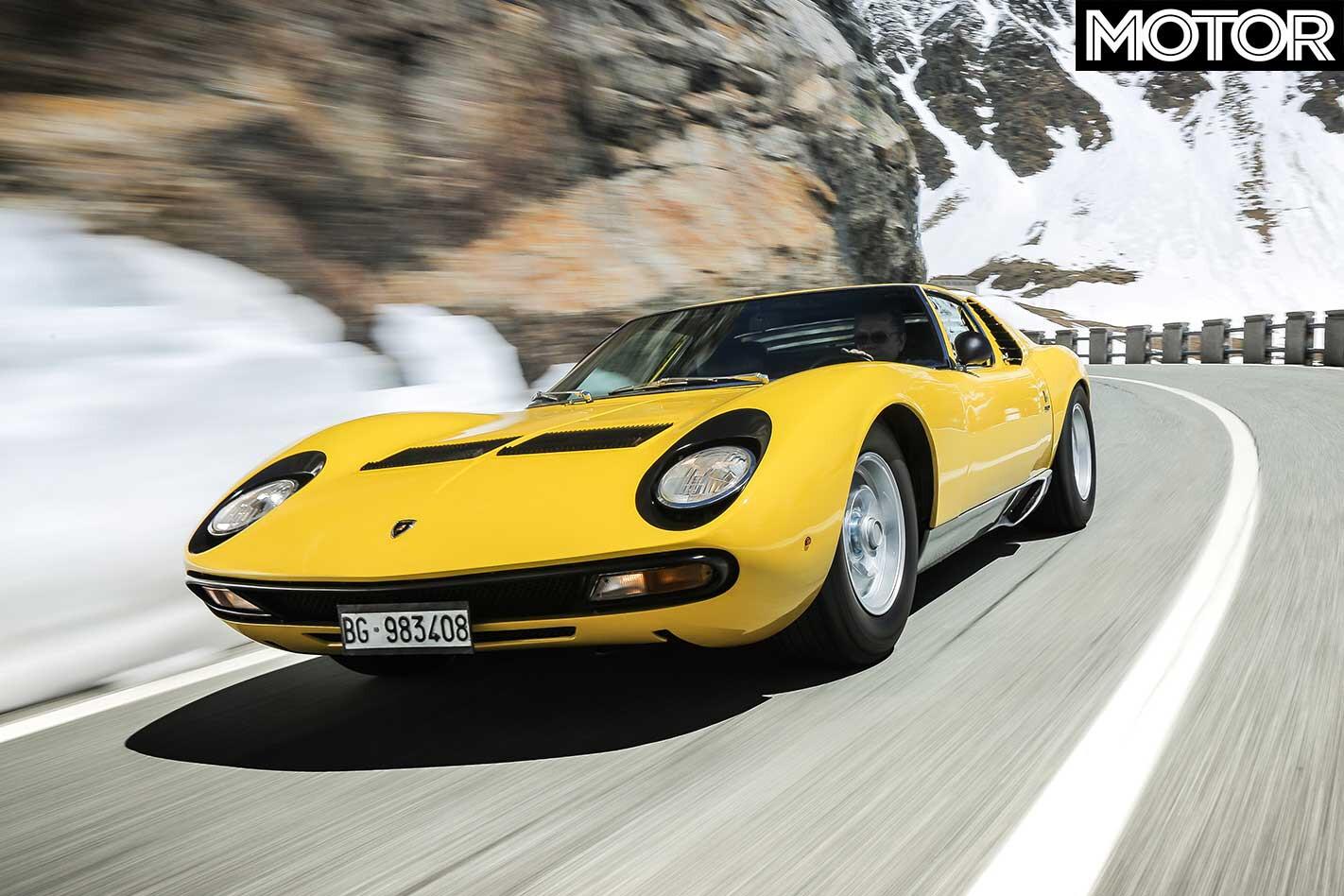 1971 Lamborghini Miura SV Front Drive Jpg