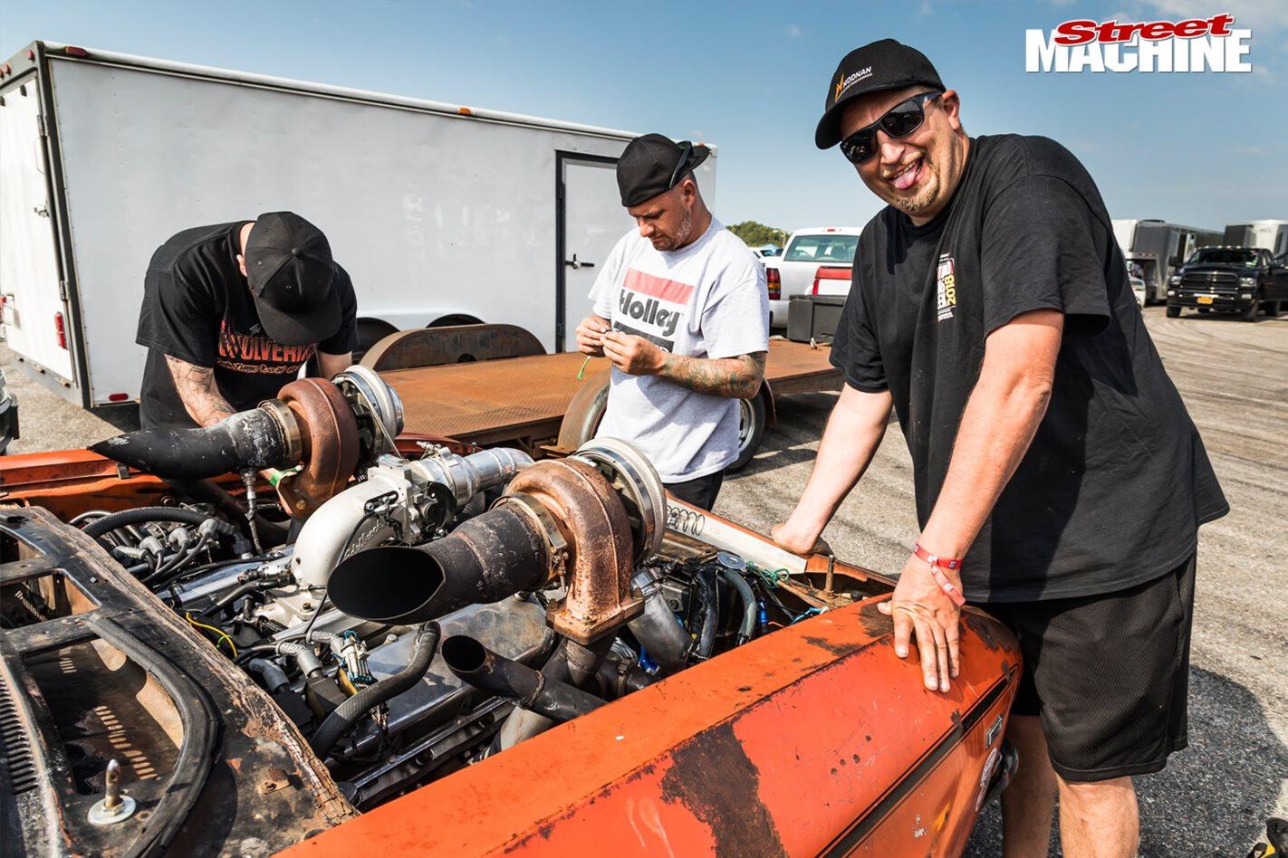 Drag Week Harry Haig Twin Turbo Engine Bay Jpg
