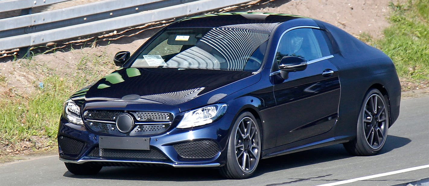 Mercedes C-Class Coupe Spy Pic