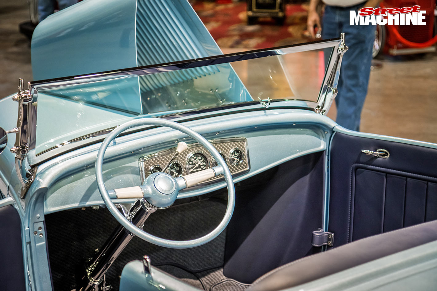 1932 Ford roadster, Custer's Last Stand interior
