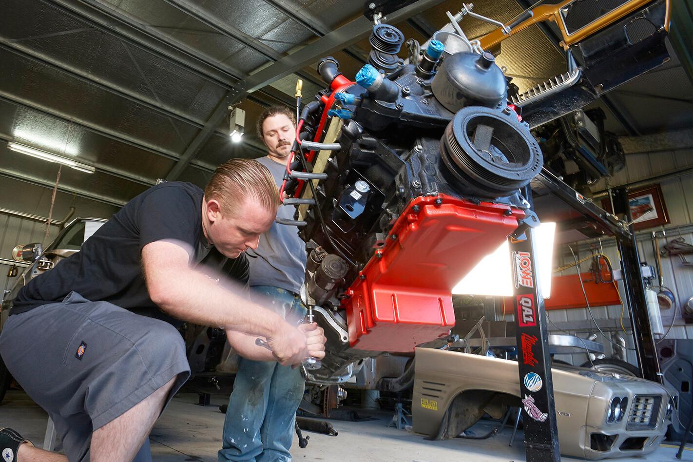 LS swap - starter motor