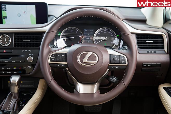 Lexus -RX-200t -luxury -steering -wheel