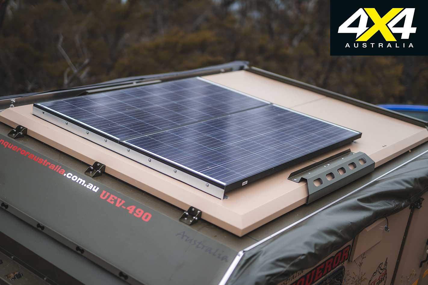 Conquerer UEV 490 Camper Trailer Solar Panel Jpg