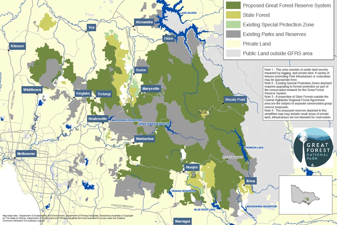 Great Forest National Park Propsed Map 281 29 Jpg