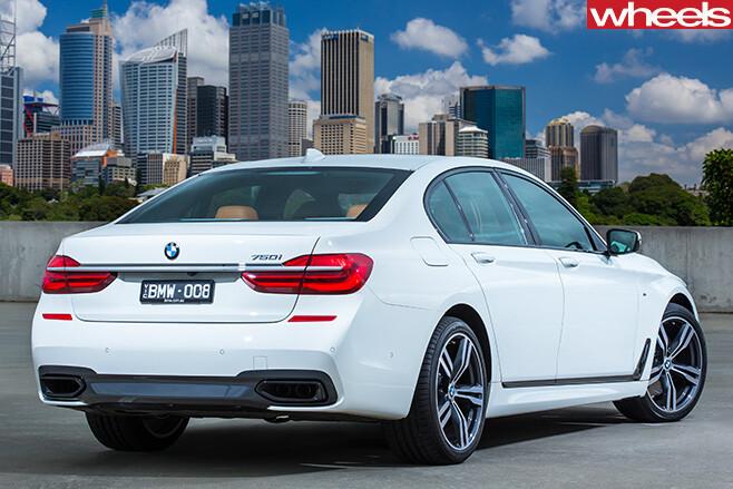 BMW-750i -driving -side -rear