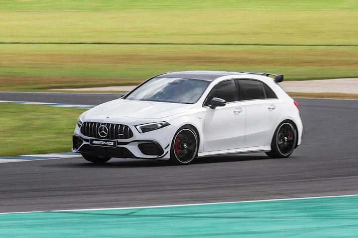 2020 Mercedes-AMG A45 S track test