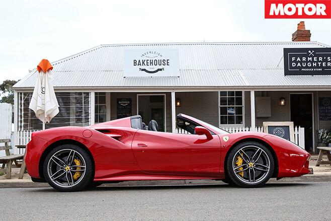 2016 Ferrari 488 Spider side