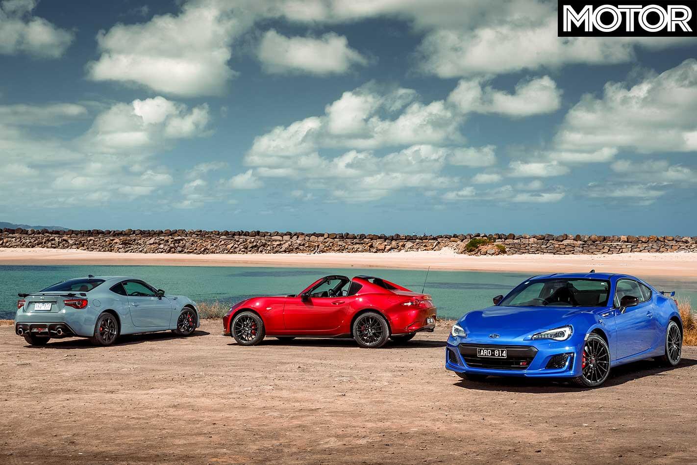 2018 Mazda Mx 5 Rf Le Vs Subaru Brz Ts Vs Toyota 86 Pp Comparison Line Up Jpg