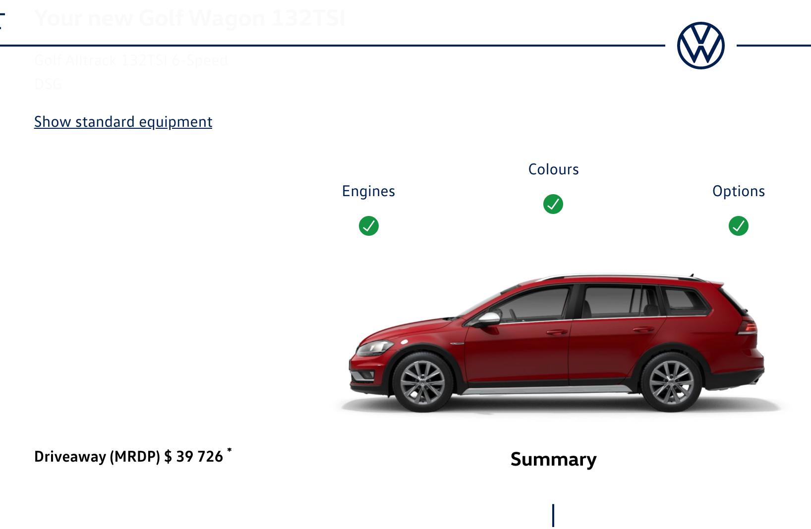 VW configurator 2020