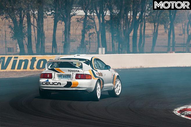 Bates Toyota Celica GT-Four rally car drive