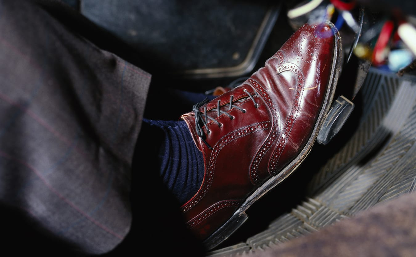 driving in dress shoes