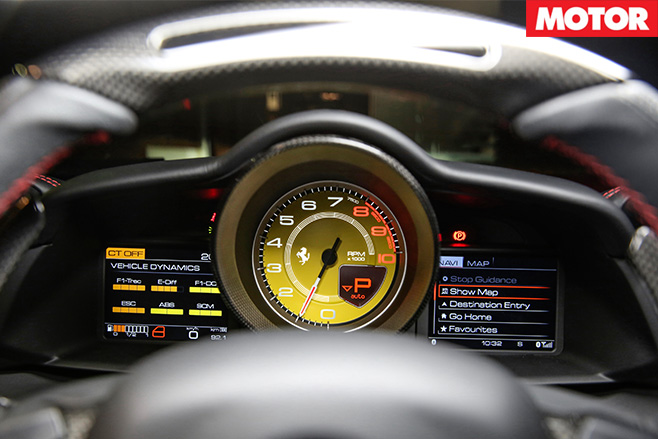 Digital screens on dashboard