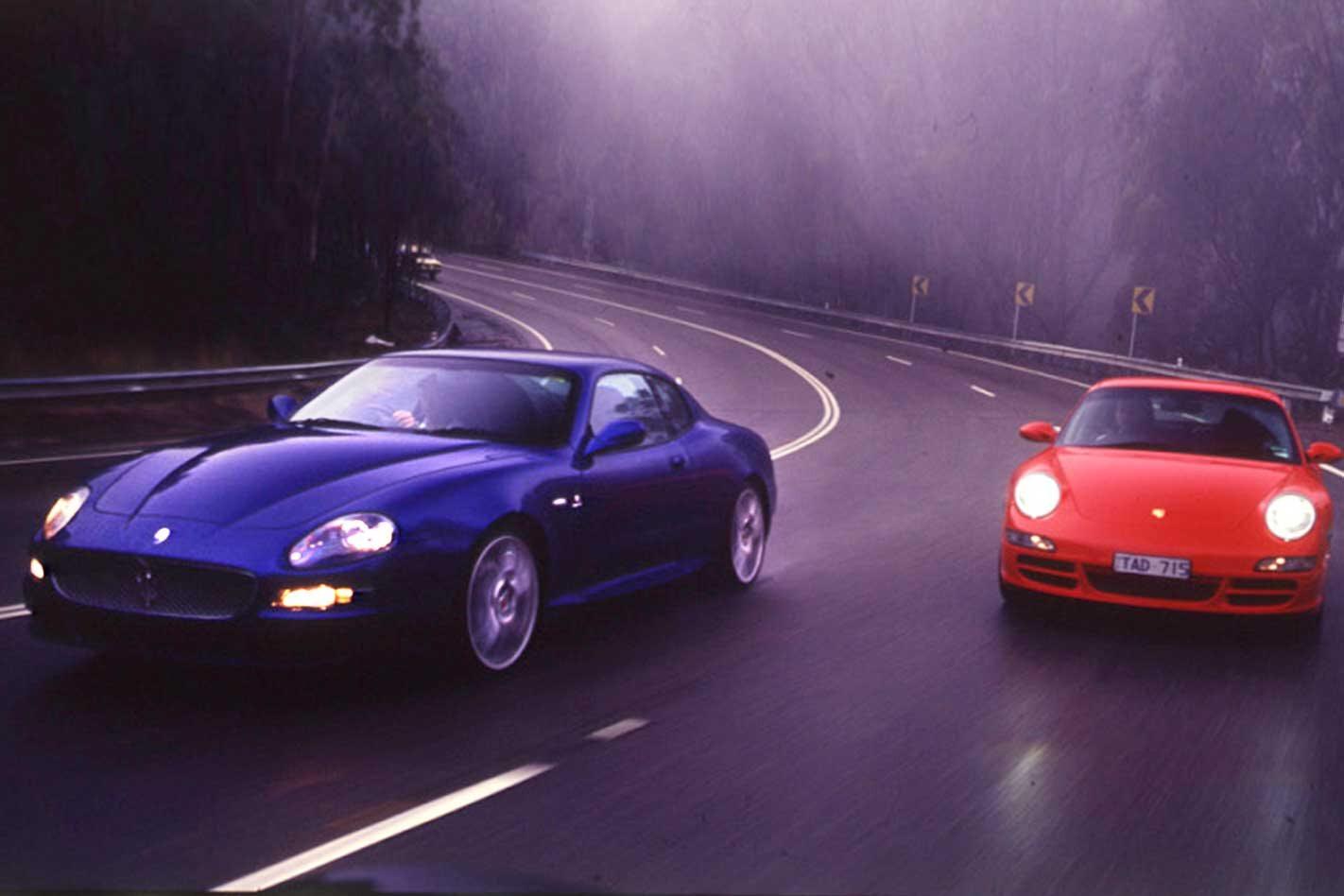 2005 Maserati GranSport vs Porsche 911 Carrera S comparison classic MOTOR