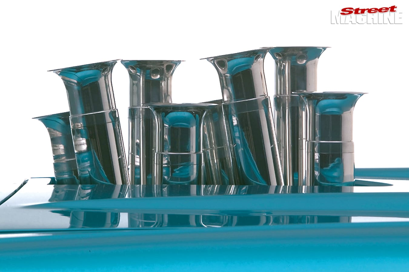1957 Chev Bel Air trumpets