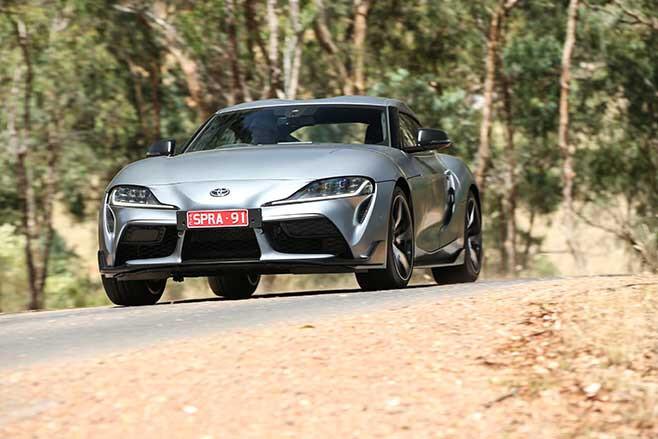 Agile handling makes the Supra fun on a winding road