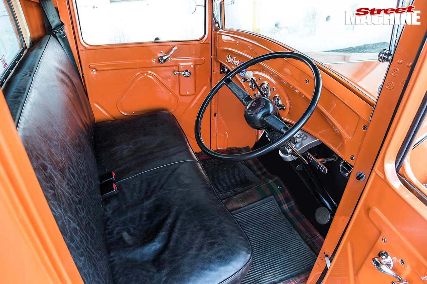 1932 Ford pickup interior