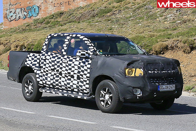 Holden -Colorado -front -side -spy -pic