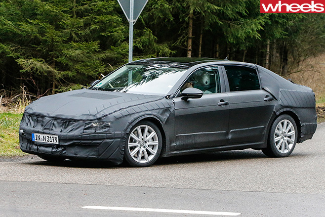 Volkswagen -CC-Front -Side -Spy -Pic