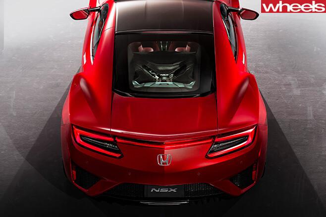 Honda -NSX-top -rear