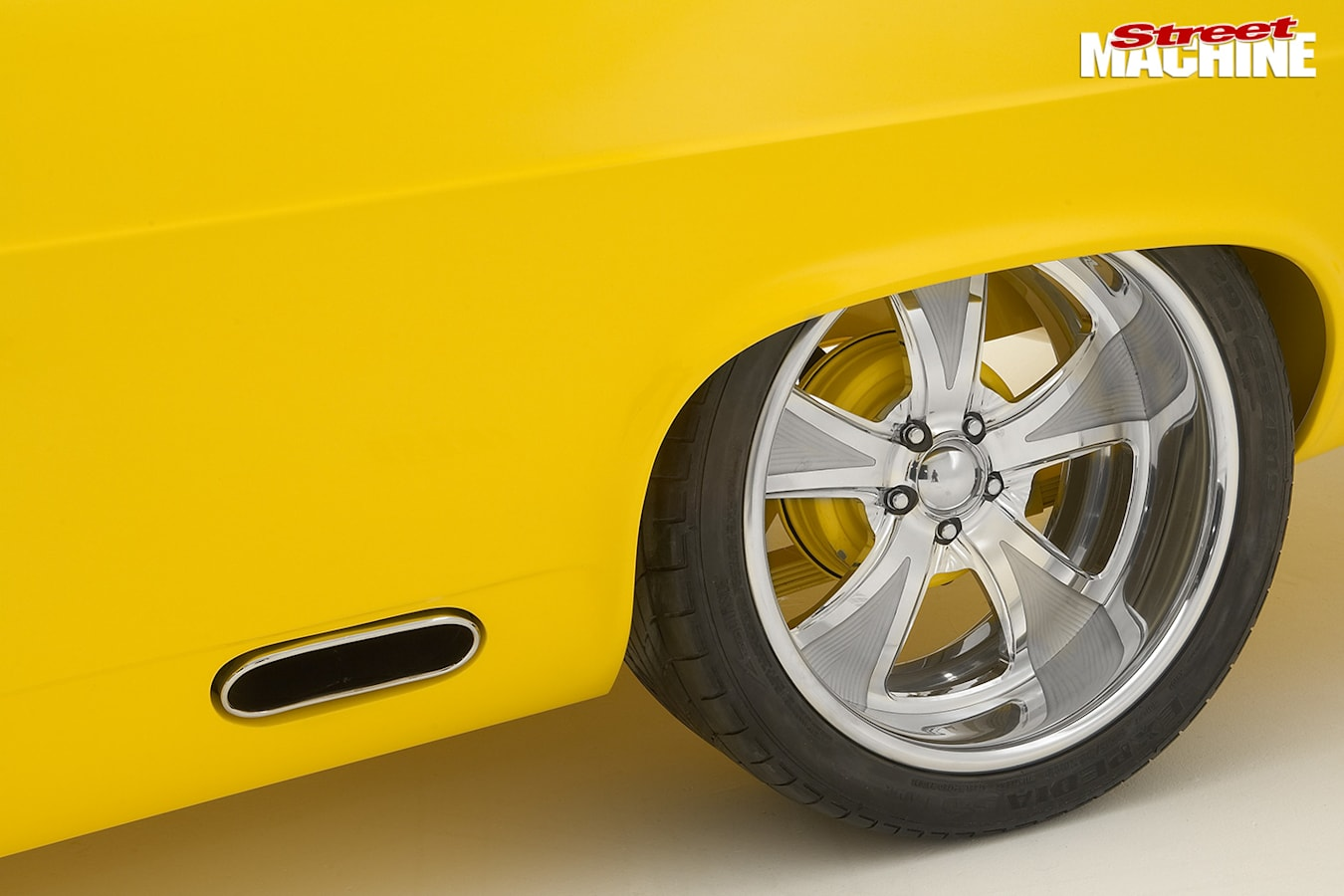 Holden HR ute wheel