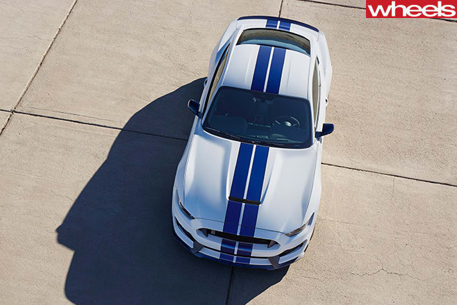 Supercharged -Ford -Mustang -side -front -top-