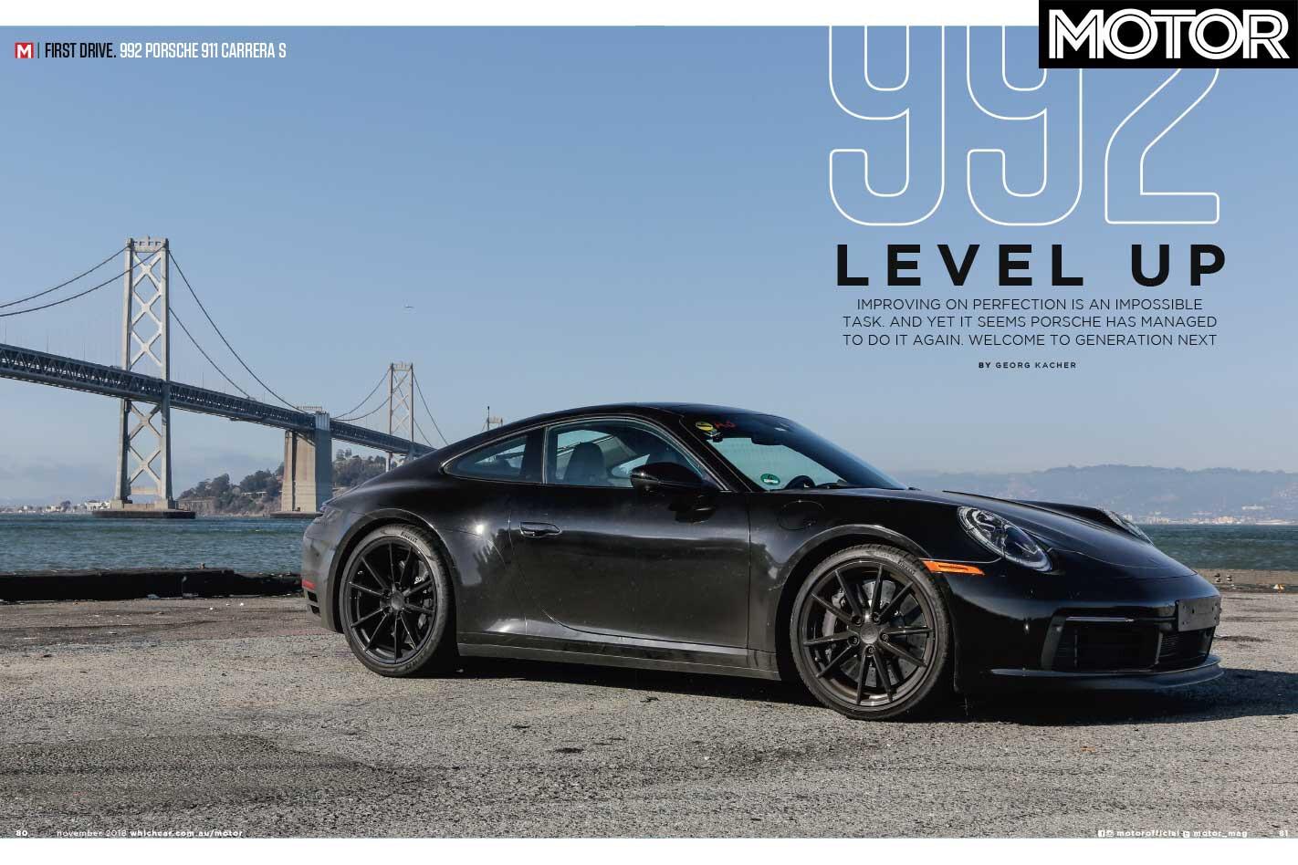 MOTOR Magazine November 2018 Porsche 992 911 Jpg