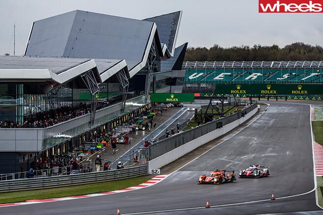 Cars -driving -around -Silverstone -F1-Circuit
