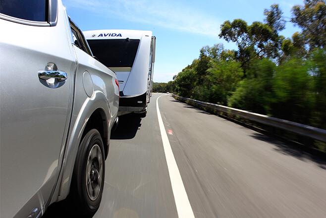towing van on road