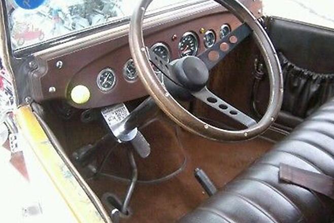 Bonzo's Model T interior