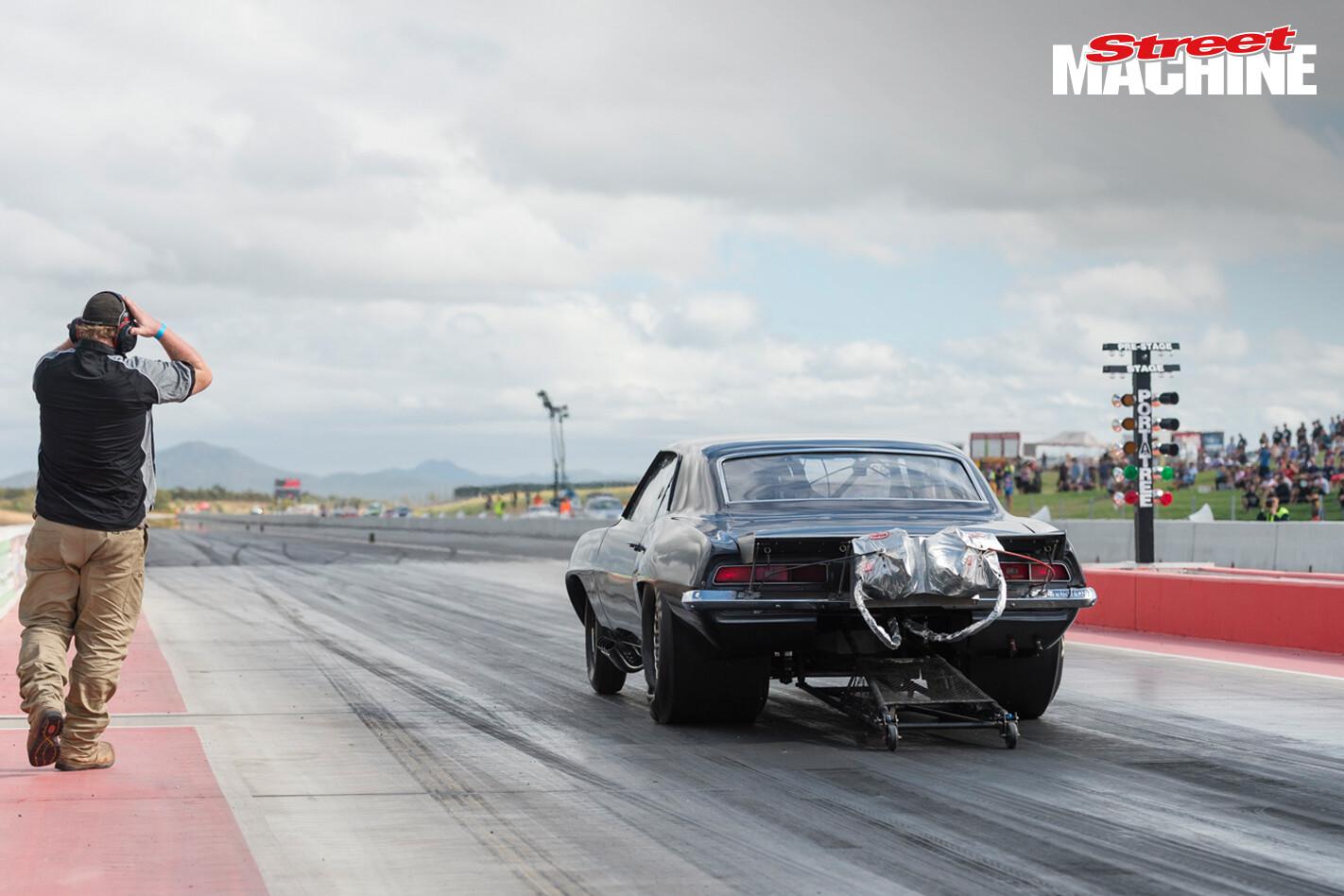Pro Mod Camaro Drag Race