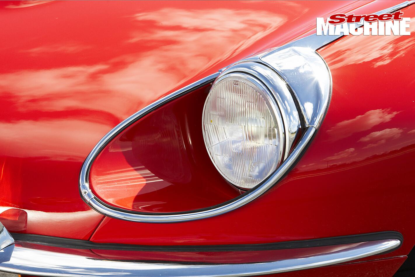 E-type -Jaguar -headlight