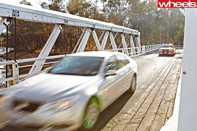 2013-Holden -Commodore -Evoke -driving -with -SS-V