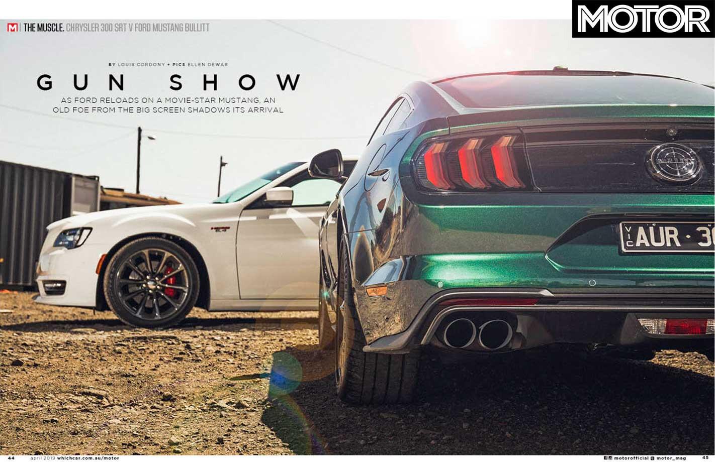 MOTOR Magazine April 2019 Issue Chrysler 300 SRT Vs Ford Mustang Bullitt Feature Jpg