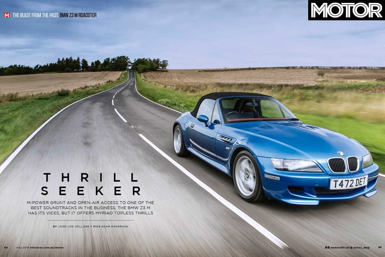 MOTOR Magazine May 2019 Issue Preview BMW Z 3 M Roadster Feature Jpg