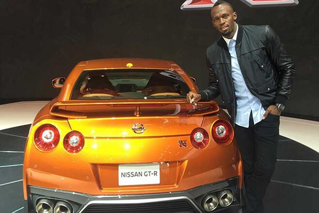 Usain Bolt with 2017 Nissan GT-R