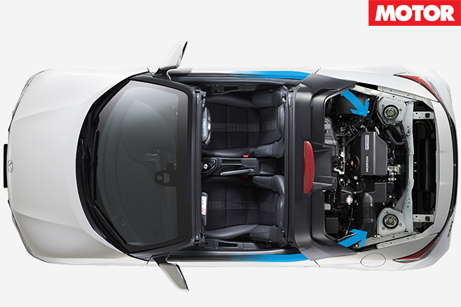 Honda S660 top with engine