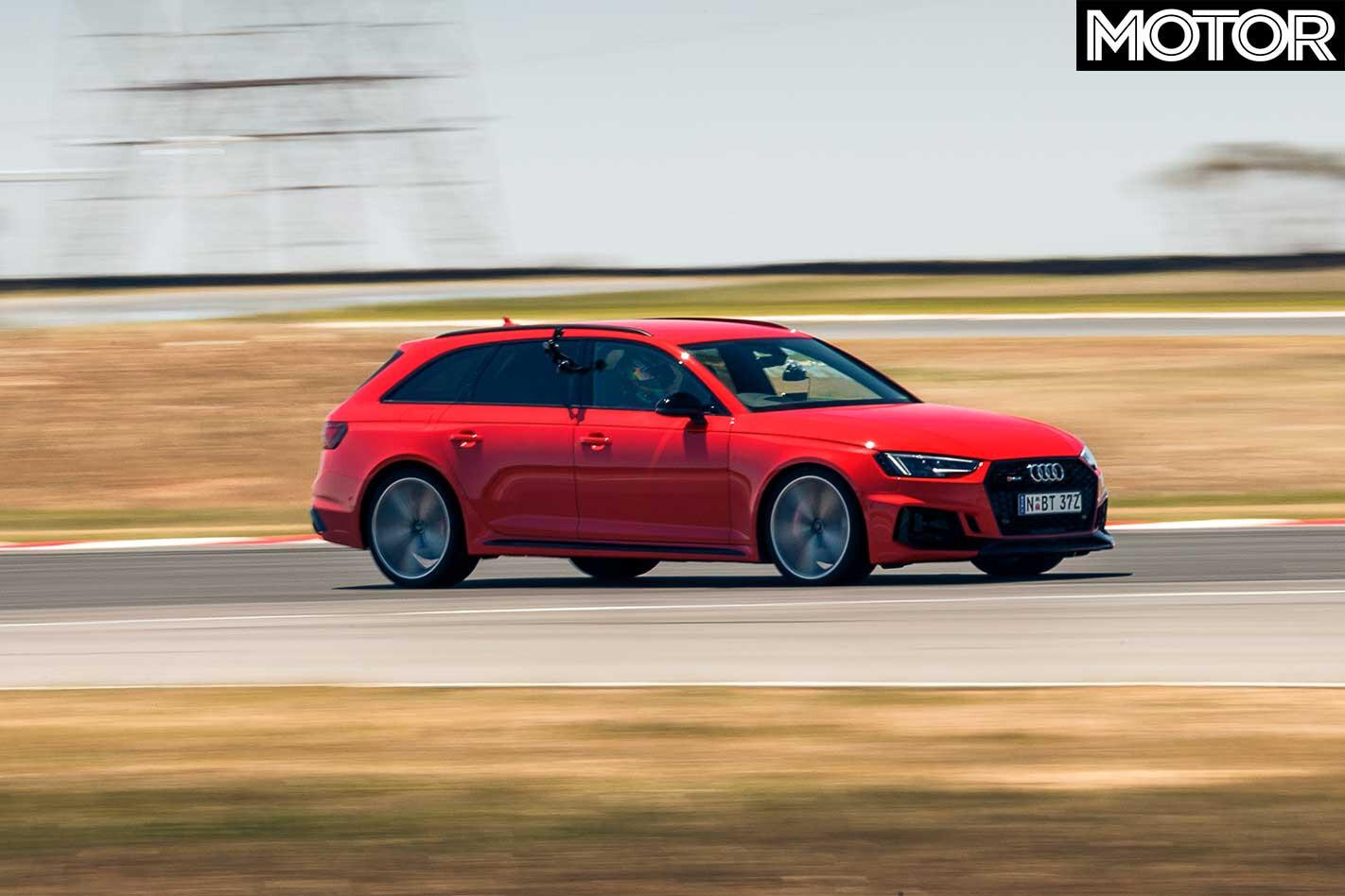 Performance Car Of The Year 2019 Track Test Audi RS 4 Avant Drag Jpg