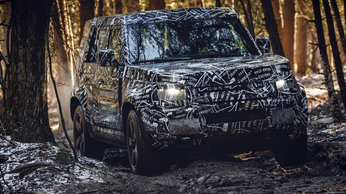 2020 Land Rover Defender Camo Front Offroad Jpg