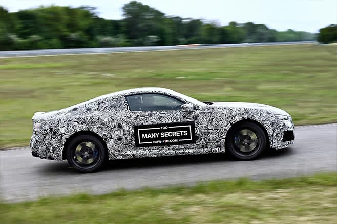 2018 BMW M8 prototype driving side