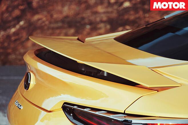 Lexus LC500 rear spoiler