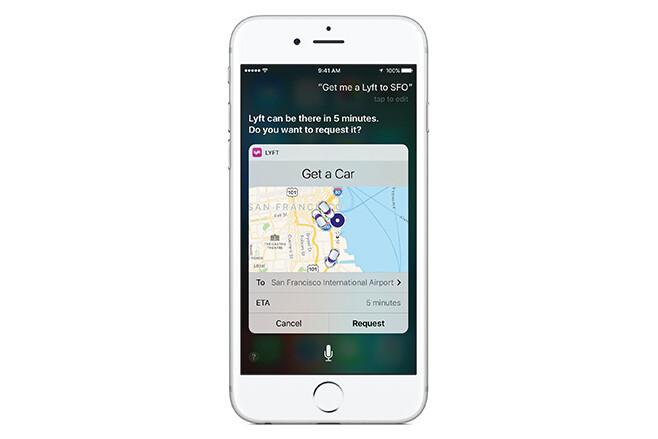 Apple iPhone - Siri uses Lyft