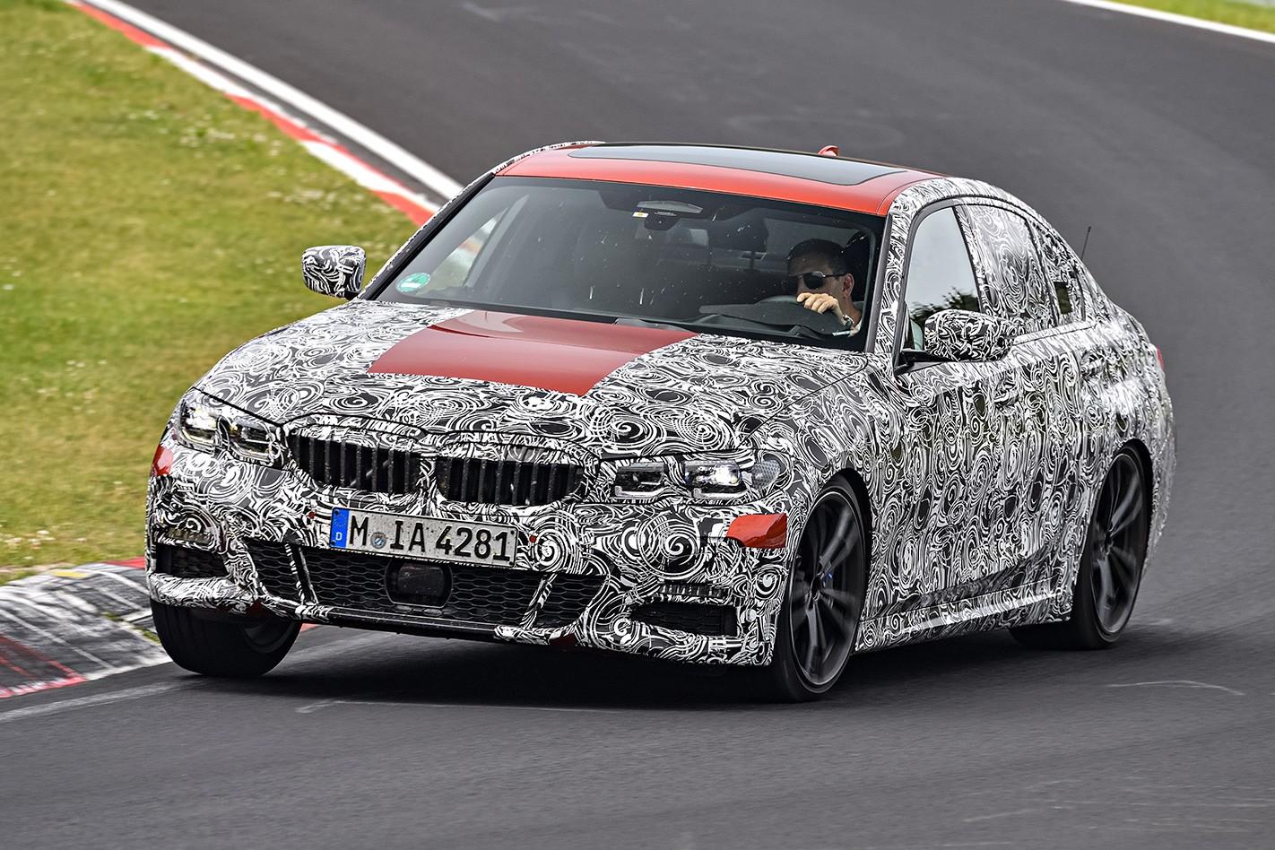BMW 3 Series prototype corner